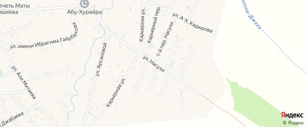 Улица Насухи на карте села Автуры Чечни с номерами домов