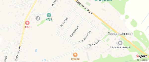 Светлая улица на карте Ершевской деревни с номерами домов