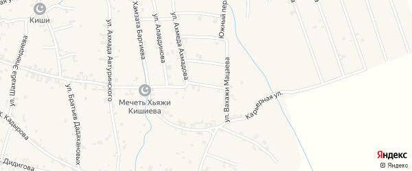 Переулок 2-й А.Ахмадова на карте села Автуры Чечни с номерами домов