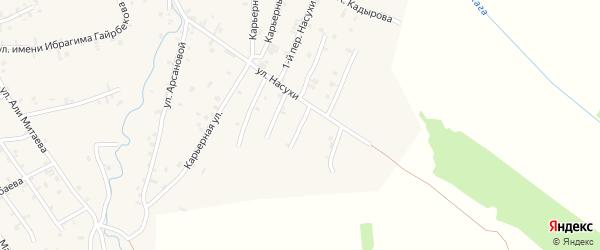 Насухи 5-й переулок на карте села Автуры Чечни с номерами домов
