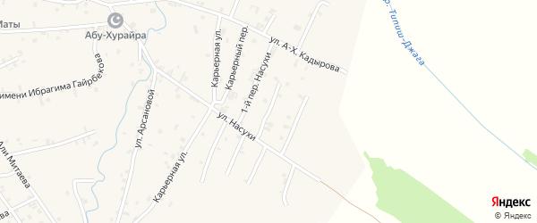 Переулок 2-й Насухи на карте села Автуры Чечни с номерами домов