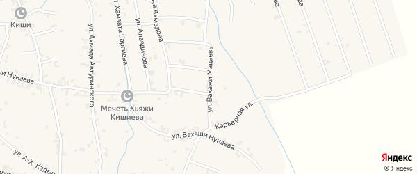 Улица Вахажи Мацаева на карте села Автуры Чечни с номерами домов