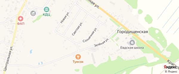 Солнечная улица на карте Ершевской деревни с номерами домов