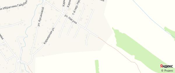 Насухи 6-й переулок на карте села Автуры Чечни с номерами домов