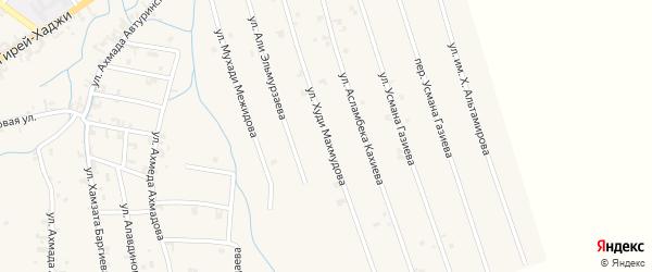 Улица Им Худи Махмудова на карте села Автуры Чечни с номерами домов