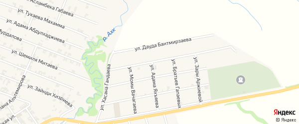 Улица Магамеда Чигиева на карте села Автуры Чечни с номерами домов
