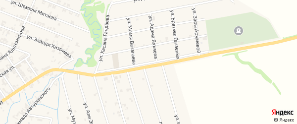 Улица Данчи Музаева на карте села Автуры Чечни с номерами домов