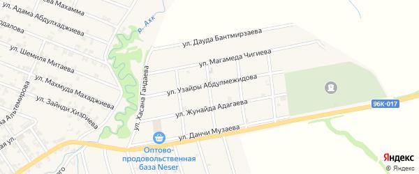 Улица Узайры Абдулмежидова на карте села Автуры Чечни с номерами домов