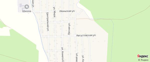 Новая улица на карте села Нового Энгеной Чечни с номерами домов