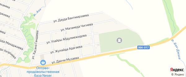 Улица Зары Аржиевой на карте села Автуры Чечни с номерами домов