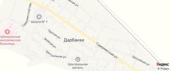Гудермесская улица на карте села Дарбанхи Чечни с номерами домов