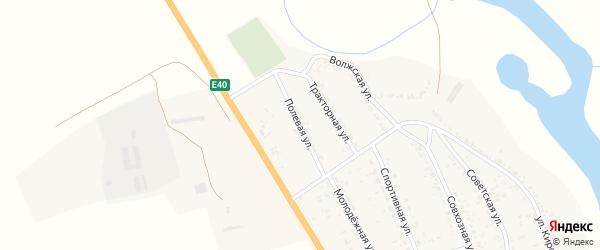 Полевая улица на карте села Зубовки Астраханской области с номерами домов