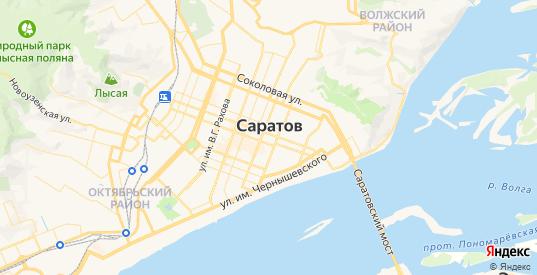 Карта Саратова с улицами и домами подробная - показать