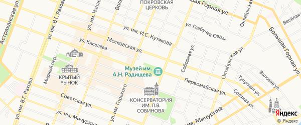 Территория СНТ ВОЛЖАНКА на карте Саратова с номерами домов
