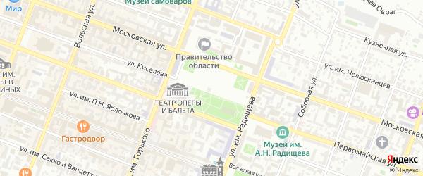 1-й Ивантеевский проезд на карте Саратова с номерами домов
