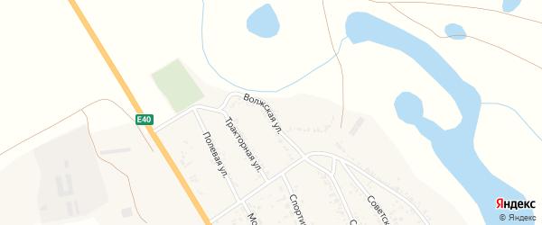 Волжская улица на карте села Зубовки Астраханской области с номерами домов