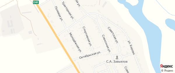 Спортивная улица на карте села Зубовки Астраханской области с номерами домов