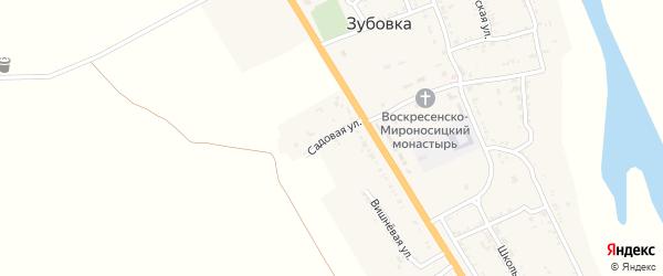 Садовая улица на карте села Зубовки Астраханской области с номерами домов