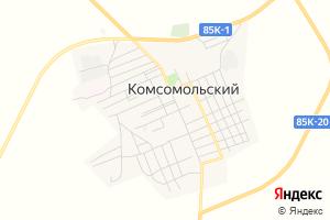 Карта пос. Комсомольский Республика Калмыкия