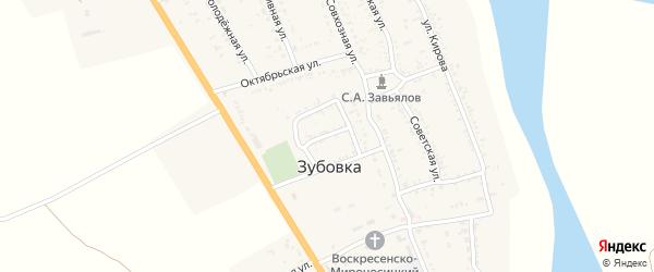 Безымянная улица на карте села Зубовки Астраханской области с номерами домов