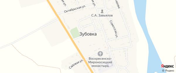 Новая улица на карте села Зубовки Астраханской области с номерами домов