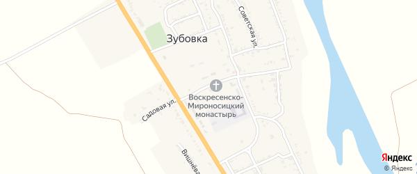 Комсомольская улица на карте села Зубовки Астраханской области с номерами домов