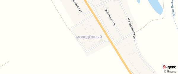 Молодежный поселок на карте села Зубовки Астраханской области с номерами домов
