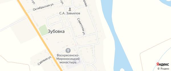 Коммунистическая улица на карте села Зубовки Астраханской области с номерами домов