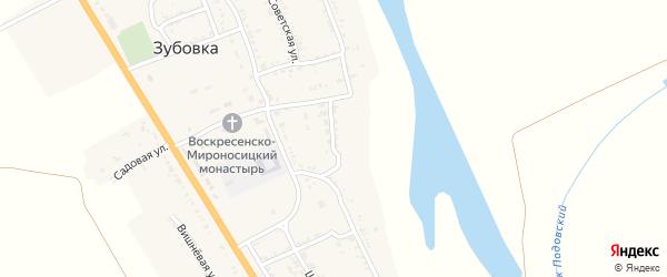 Абрикосовая улица на карте села Зубовки Астраханской области с номерами домов