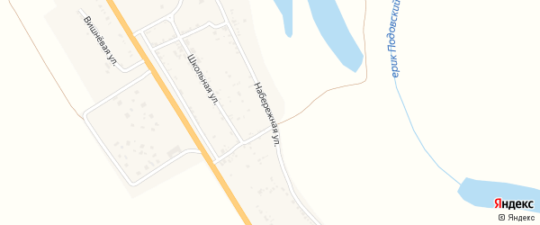 Набережная улица на карте села Зубовки Астраханской области с номерами домов