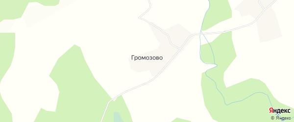Карта деревни Громозово в Вологодской области с улицами и номерами домов