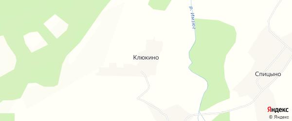 Карта деревни Клюкино в Вологодской области с улицами и номерами домов