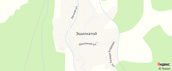 Улица Ветеранов ВОВ на карте села Эшилхатого с номерами домов
