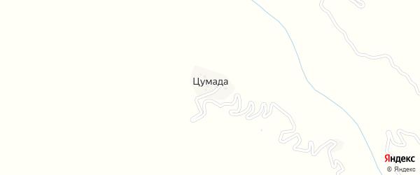 Улица 70 лет победы на карте села Цумады с номерами домов