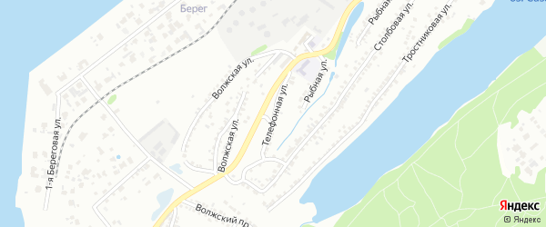 Телефонная улица на карте Энгельса с номерами домов