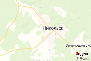 Карта г. Никольск