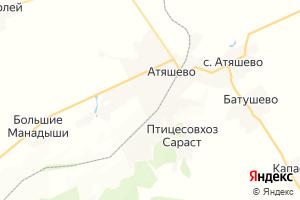 Карта пос. Атяшево Республика Мордовия
