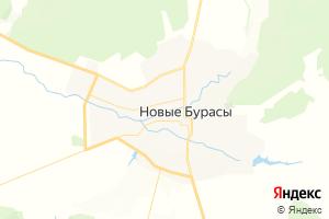 Карта пгт Новые Бурасы Саратовская область