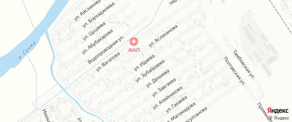 Улица Ю.Идаева на карте Гудермеса с номерами домов