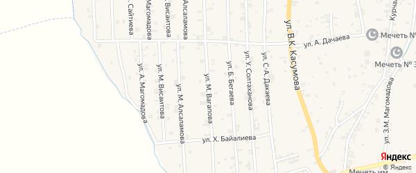 Западная 4-я улица на карте села Курчалой с номерами домов