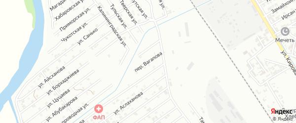 Переулок Вагапова на карте Гудермеса с номерами домов