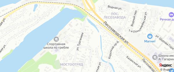 Тургеневский проезд на карте Энгельса с номерами домов