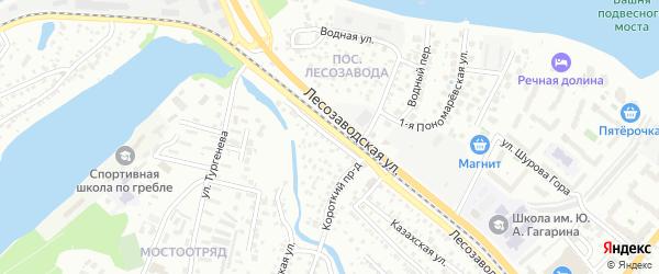 Короткий проезд на карте Энгельса с номерами домов