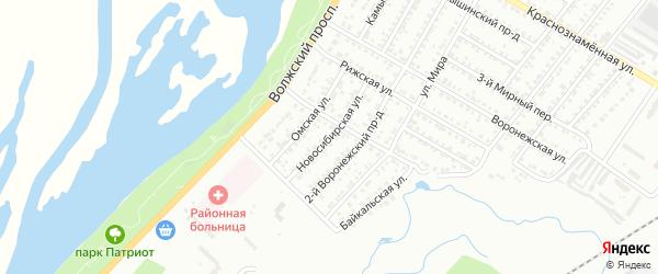 Новосибирская улица на карте Энгельса с номерами домов