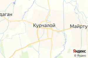 Карта с. Курчалой Чеченская Республика