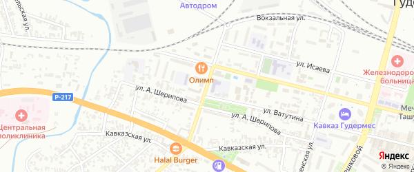 Школьная улица на карте села Верхнего Герзель с номерами домов