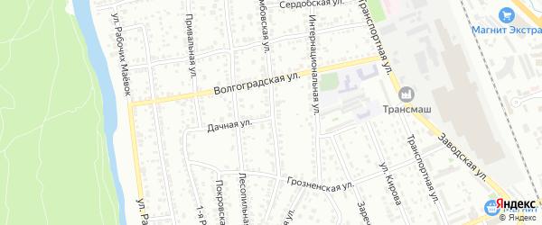 Тамбовская улица на карте Энгельса с номерами домов