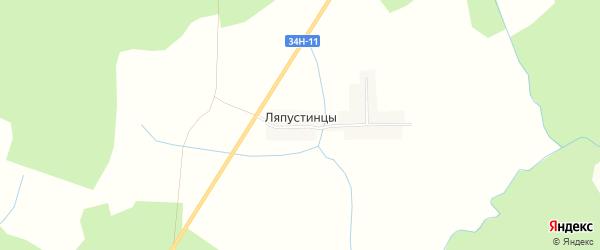Карта деревни Ляпустинцы в Костромской области с улицами и номерами домов