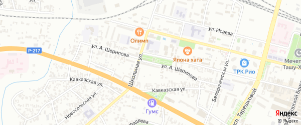 Улица А.Шерипова на карте Гудермеса с номерами домов