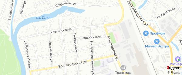 Сердобская улица на карте Энгельса с номерами домов